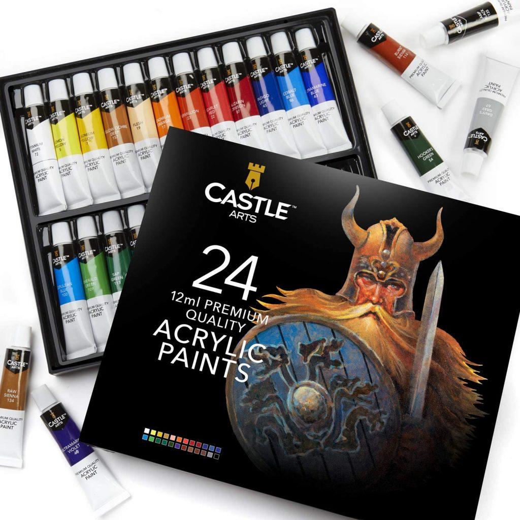 Castle Art Supplies 24 Acrylic Paints