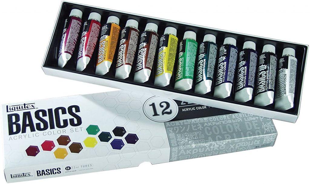 Liquitex BASICS Acrylic Paint Tube 12-Piece Set