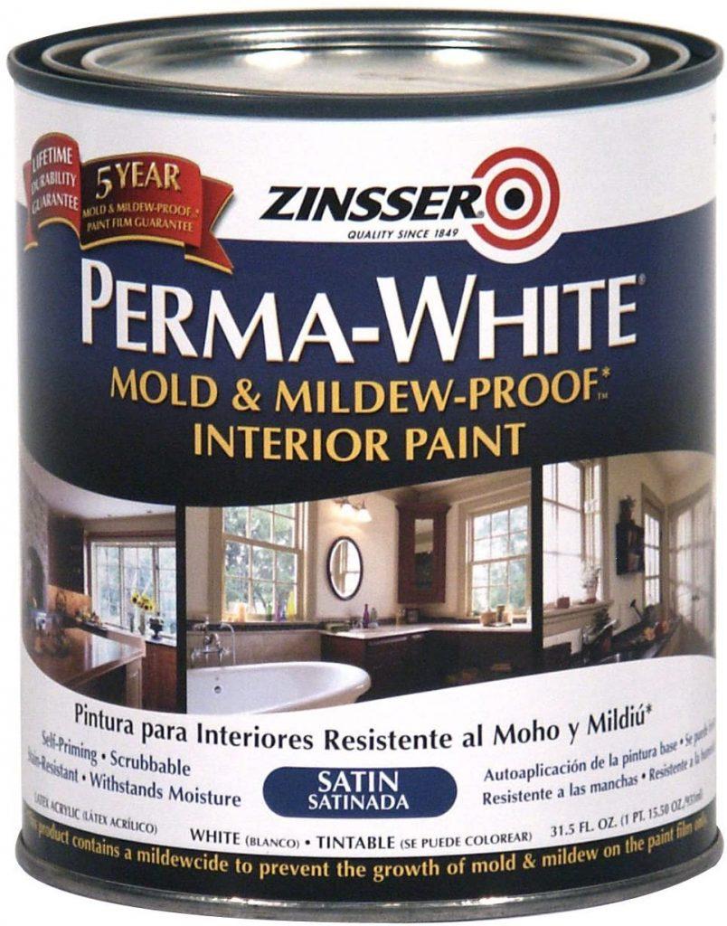 Zinsser Mold And Mildew Proof Satin Interior Paint